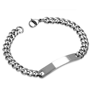 988079a31 Pánský ocelový náramek řetěz s rytinou | Motoshop s motodoplňky