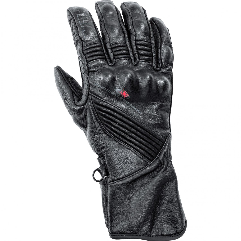 753bbb52f35 FLM Tech dámské kožené rukavice na motorku černé
